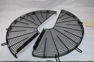 A two-piece split fan guard