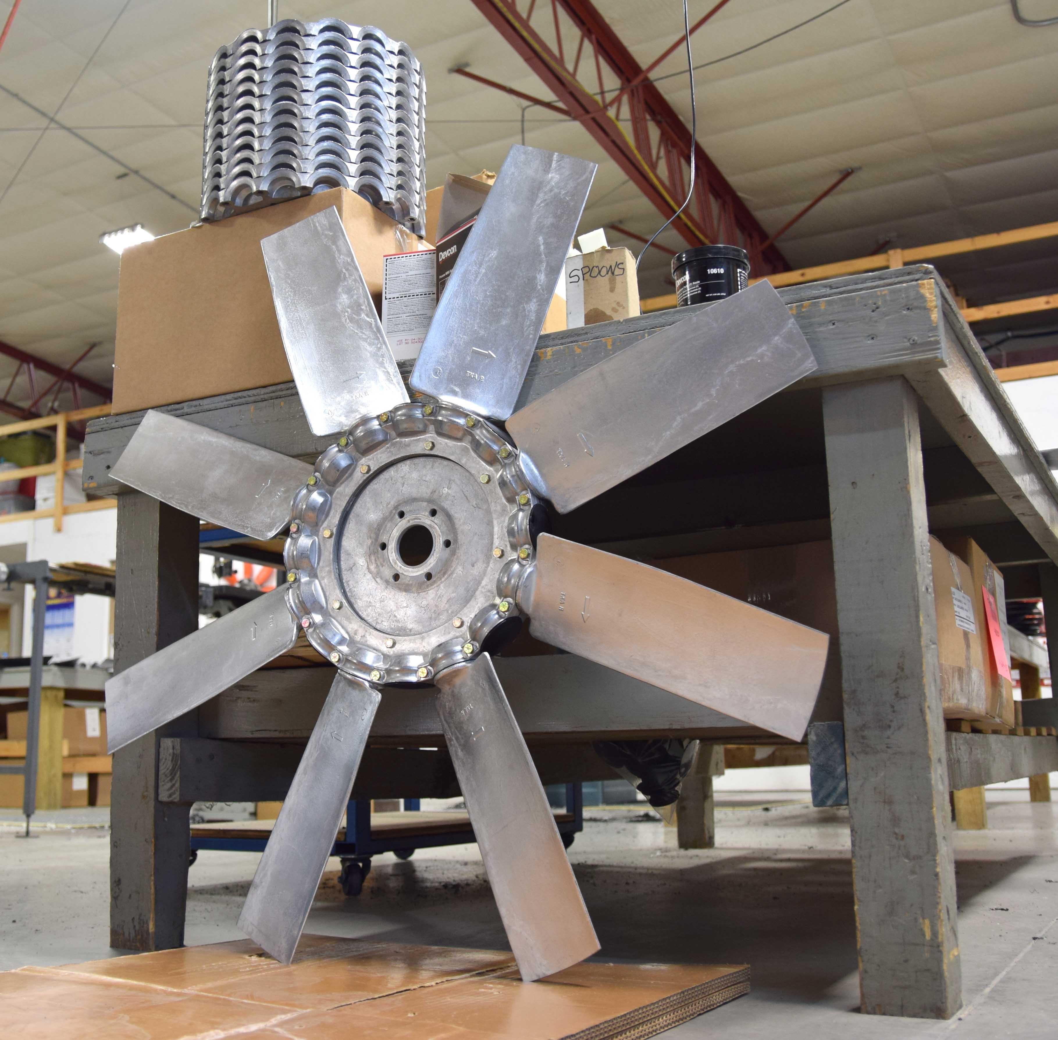 Replacement Aluminum Fan Blades : Fan blades breeza industrial